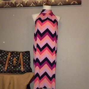 Trina Turk pink chevron dress